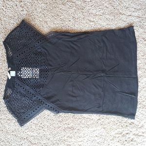Black top with lace size XS H&M